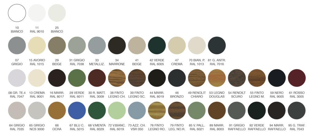Colori Tapparella Croci SAR-132