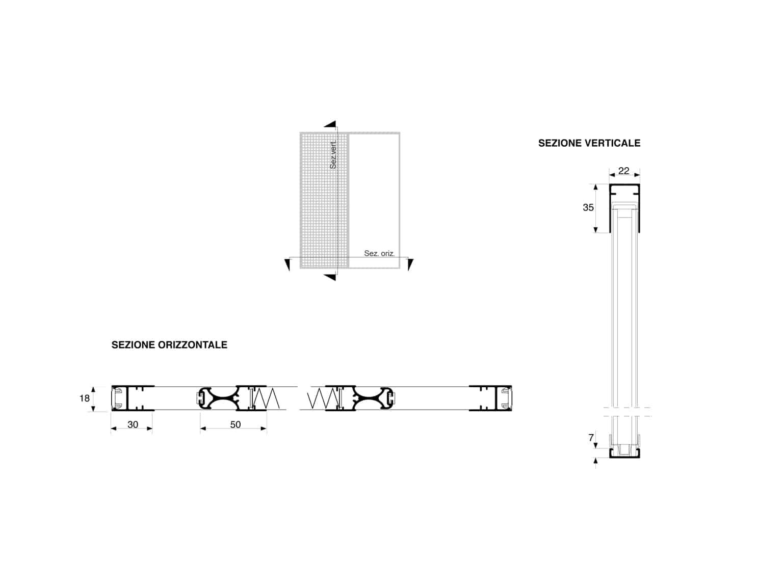 Dimensioni Gioconda 22 Reversibile